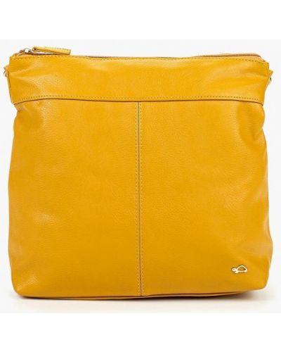 Кожаная сумка - желтая Carpisa