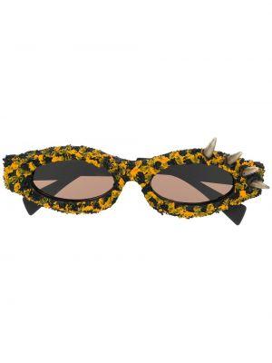 Солнцезащитные очки с шипами - черные Kuboraum