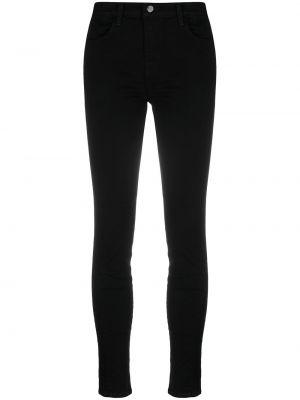 С завышенной талией черные джинсы на молнии J Brand