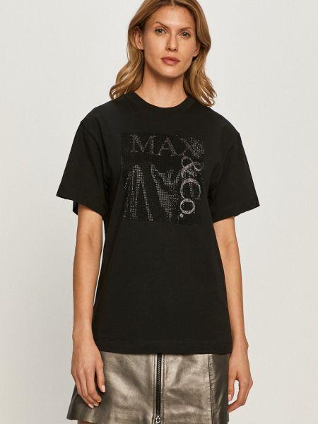 Трикотажная футболка с вырезом свободного кроя Max&co