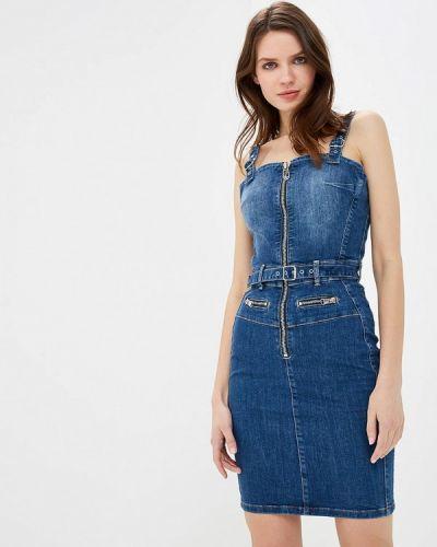 Джинсовое платье платье-сарафан весеннее Guess Jeans