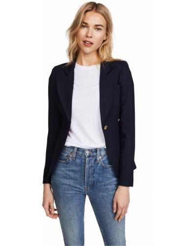 Шерстяной удлиненный пиджак с подкладкой с заплатками Smythe