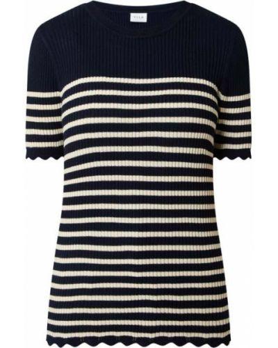 Niebieski sweter krótki rękaw Vila