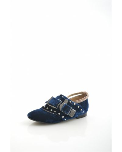 Туфли на каблуке кожаные темно-синий Grand Style