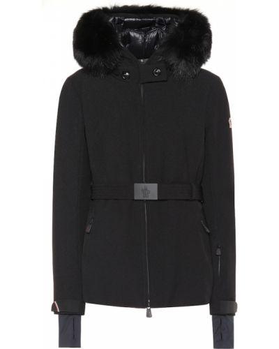 Зимняя куртка черная с опушкой Moncler Grenoble