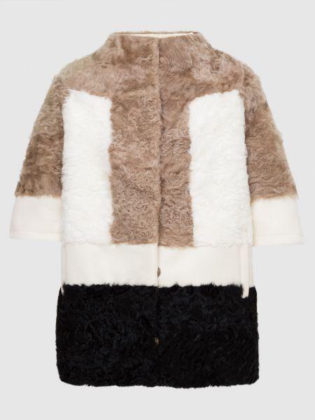Пальто с мехом - бежевое Florence Mode