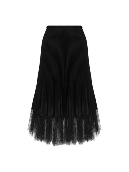 Плиссированная юбка миди из фатина Redvalentino