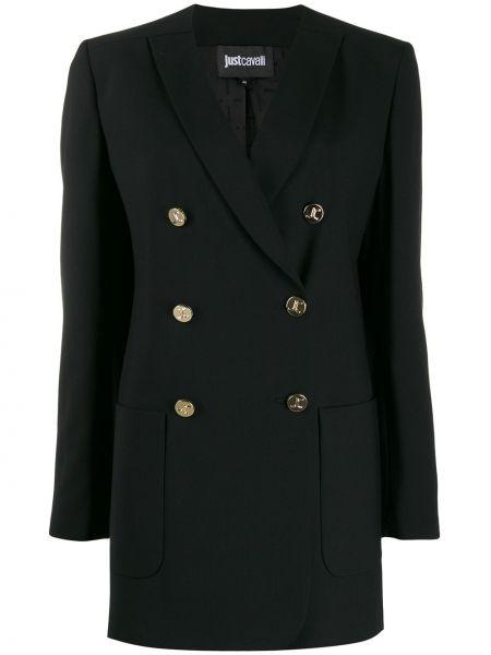 Пиджак черный в полоску Just Cavalli
