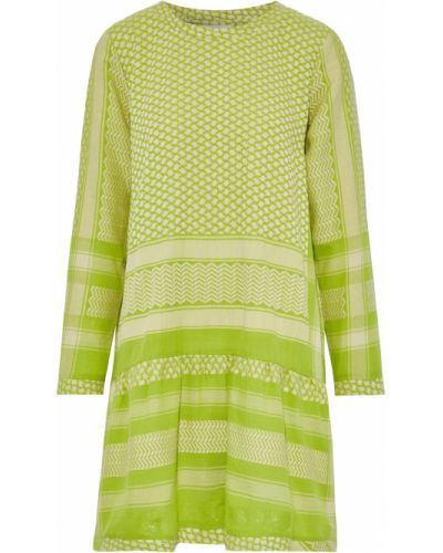 Хлопковое платье мини - зеленое Cecilie Copenhagen