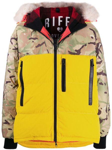 Żółta kurtka z kapturem wełniana Griffin