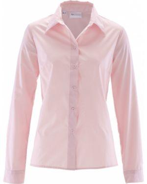 Блузка с длинным рукавом розовая вечерняя Bonprix