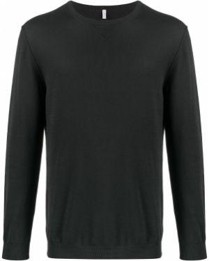 С рукавами черный свитер узкого кроя с вырезом Cenere Gb