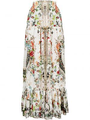 Шелковая юбка - белая Camilla