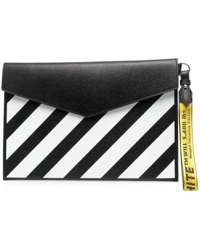 С ремешком черная сумка из натуральной кожи Off-white