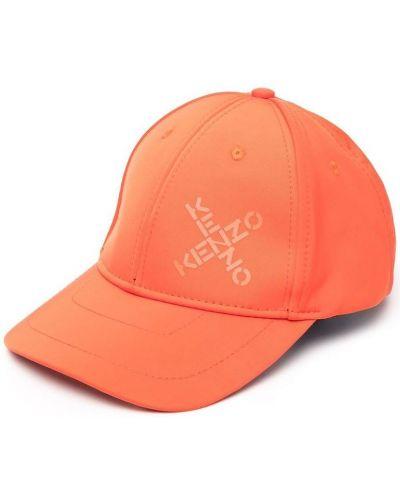 Pomarańczowy kapelusz Kenzo