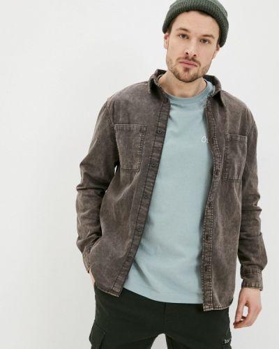 Коричневая джинсовая рубашка Ostin