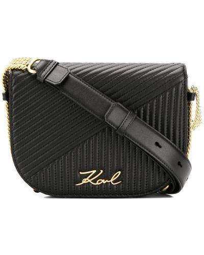Сумка на плечо стеганая с клапаном Karl Lagerfeld
