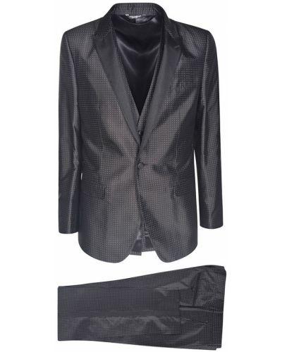Garnitur z jedwabiu - czarny Dolce And Gabbana