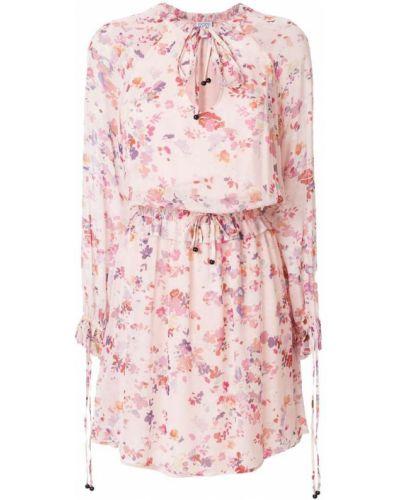 Платье с цветочным принтом с длинными рукавами приталенное Twin-set