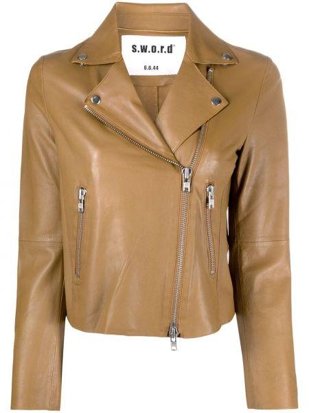 Кожаная куртка длинная байкерская S.w.o.r.d 6.6.44