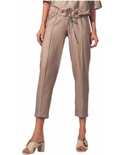 Beżowe spodnie oversize Figl