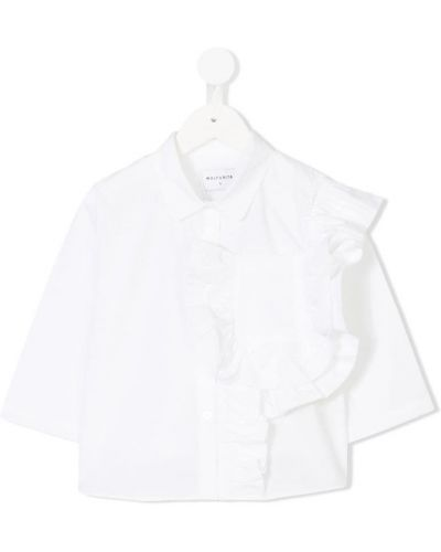 Блуза длинная белая Wolf & Rita