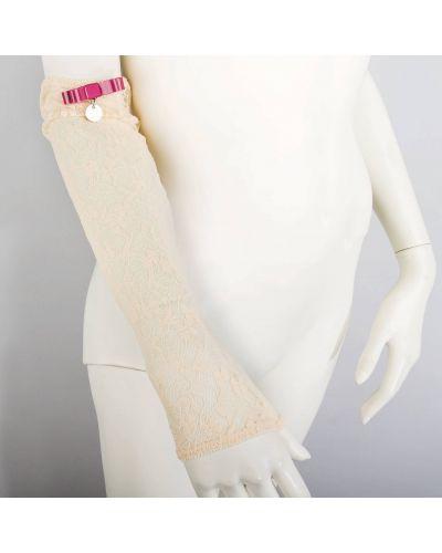 Перчатки бежевые весенние Patrizia Pepe