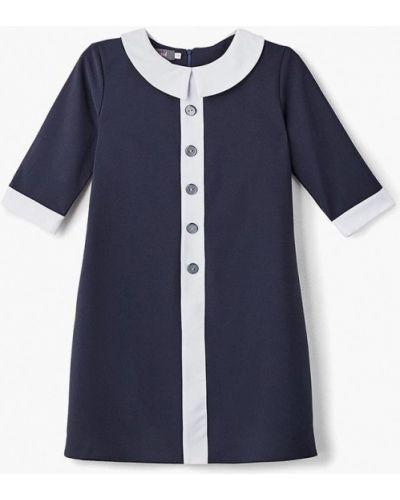 Синее платье осеннее Shened