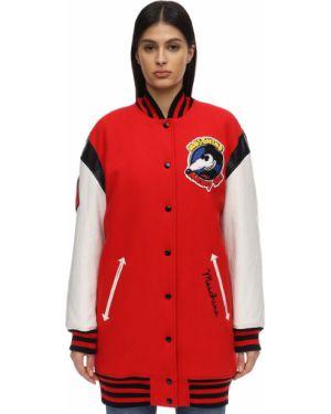 Куртка с вышивкой с манжетами Moschino
