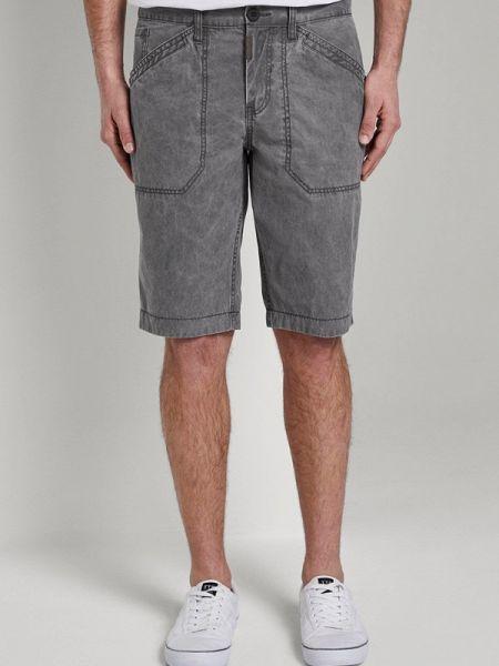 Серые повседневные шорты Tom Tailor