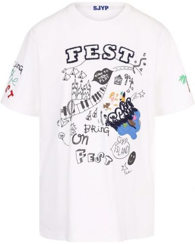 Свободная футболка с вышивкой Steve J & Yoni P