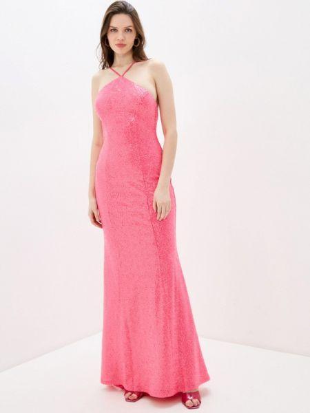 Розовое вечернее платье Goddiva