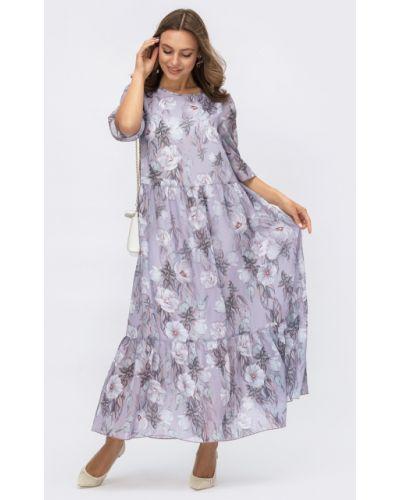 Шифоновое платье макси - сиреневое Dressa