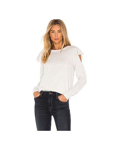 Облегающий шелковый серый свитер Lna