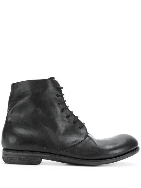 Czarne ankle boots skorzane A Diciannoveventitre