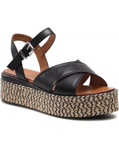 Czarne sandały espadryle Inuovo