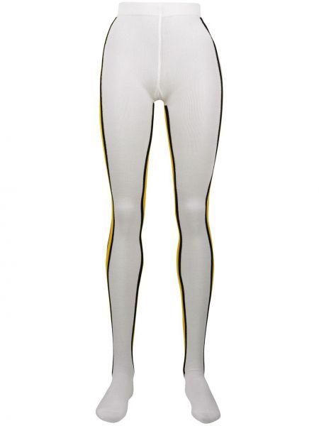 Колготки белые в полоску Calvin Klein 205w39nyc