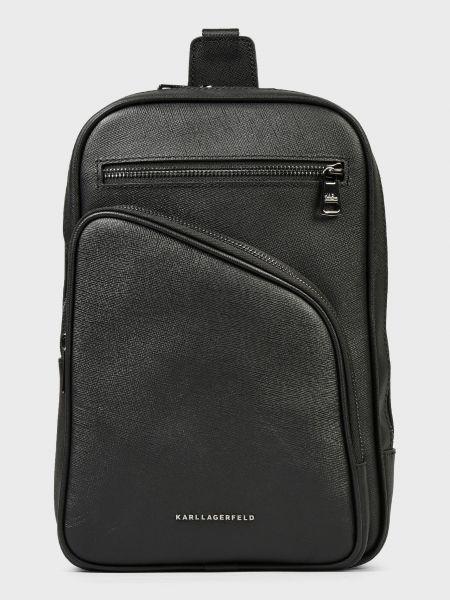 Кожаная сумка - черная Karl Lagerfeld