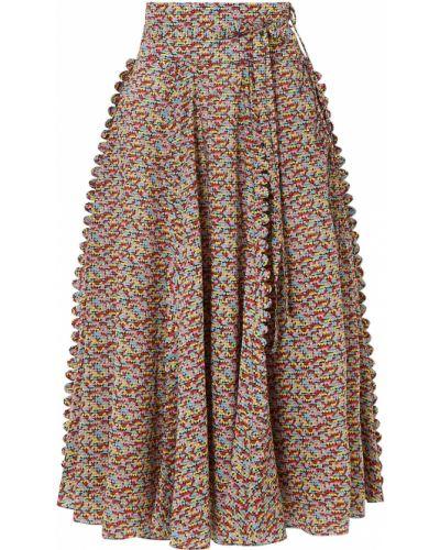 Хлопковая юбка миди с карманами на шнурках Horror Vacui