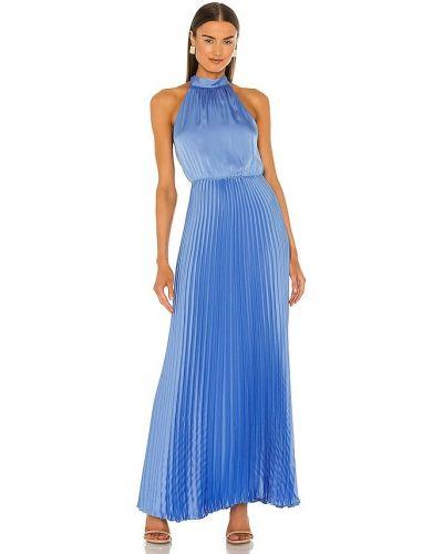 Niebieska satynowa sukienka Bcbgmaxazria
