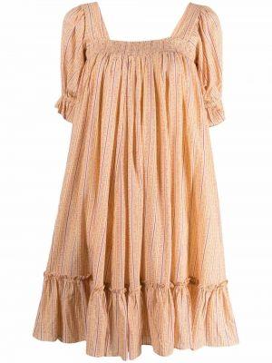 Sukienka mini w kwiaty rozkloszowana vintage Bytimo