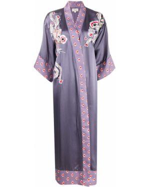 Kimono z rękawami fioletowy Temperley London