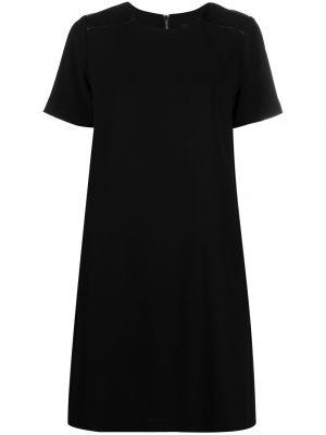 С рукавами черное платье мини трапеция Karl Lagerfeld