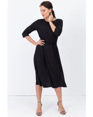 Трикотажное платье - черное Taiga