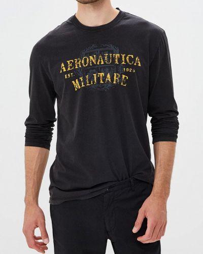 Черный лонгслив Aeronautica Militare