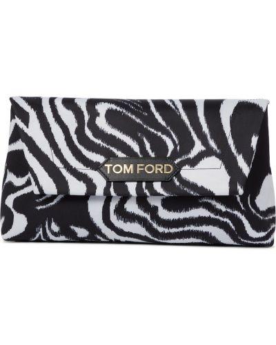 Черный клатч из натуральной кожи Tom Ford
