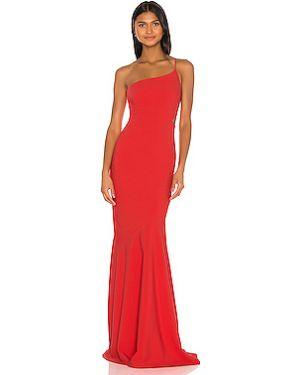 Красное шелковое вечернее платье на молнии с подкладкой Likely