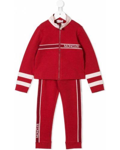 Спортивный костюм красный Moncler Kids