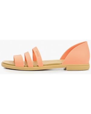 Спортивные сандалии коралловый оранжевый Crocs