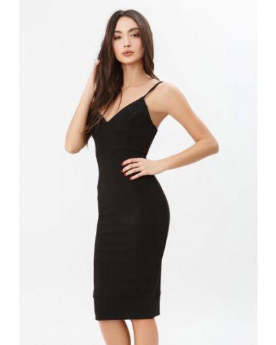 Прямое черное платье Gepur
